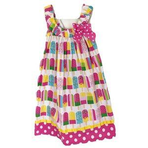 Bonnie Jean Girls Dress Novelty Print Popsicle 6